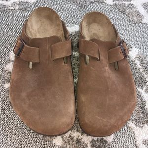 Birkenstock Boston Oiled Leather Brown Mule